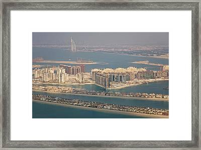 Uae, Dubai Aerial Of Palm Jumeirah Framed Print by Jaynes Gallery