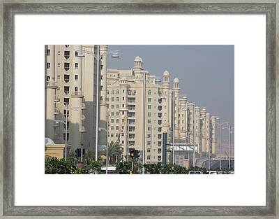 Uae, Dubai Apartment Buildings Next Framed Print