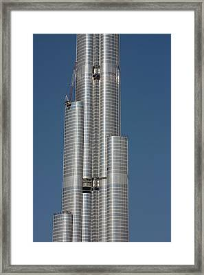 Uae, Dubai Middle Section Of The Burj Framed Print by Jaynes Gallery
