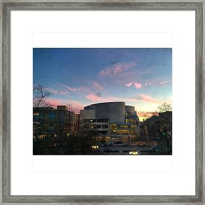 Ub Sunset Framed Print