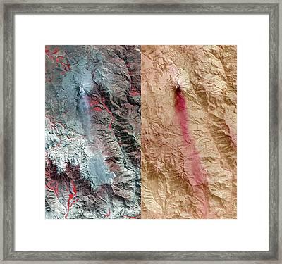 Ubinas Volcano Framed Print