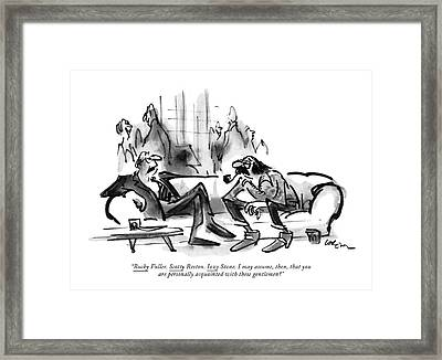 <u>bucky<$> Fuller. <u>scotty<$> Reston Framed Print
