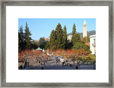 Uc Berkeley . Sproul Plaza . Sather Gate And Sather Tower Campanile . 7d10002 Framed Print