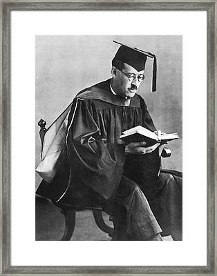 Uc Graduates Russian Scientist Framed Print by Underwood Archives