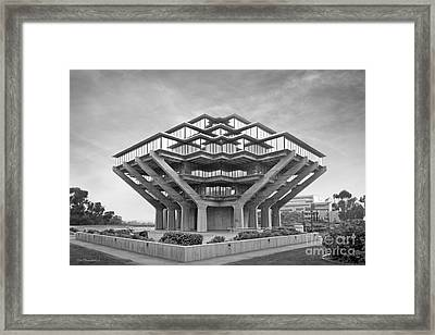 University Of California San Diego Geisel Library  Framed Print by University Icons