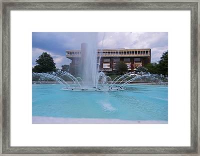 Ucf Reflection Pond 2 Framed Print by Warren Thompson