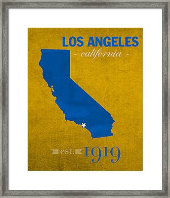 Ucla University Of California Los Angeles Bruins College Town State Map Poster Series No 026 Framed Print by Design Turnpike