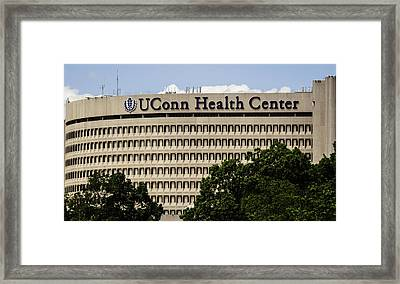 University Of Connecticut Uconn Health Center Framed Print by Phil Cardamone