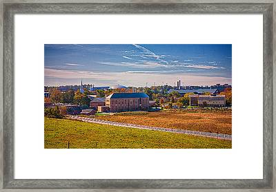 Uconn Skyline Framed Print by Steve Pfaffle