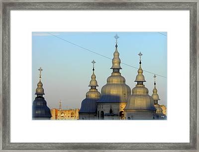 Ucraina..chiesa Framed Print by Halina Nechyporuk