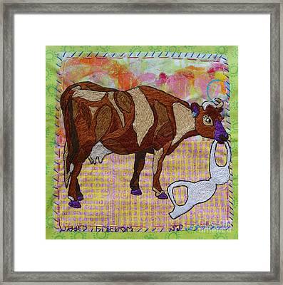 Udder Freedom Framed Print by Susan Sorrell