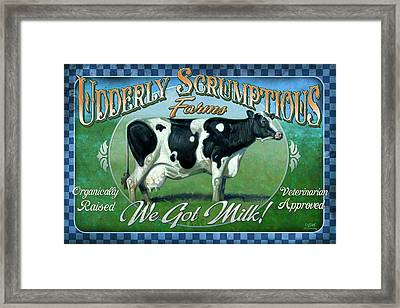 Udderly Scrumptious Framed Print by JQ Licensing
