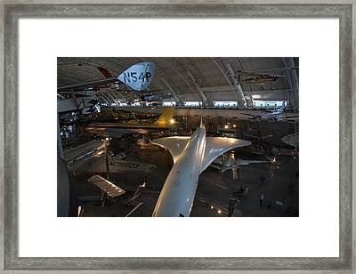 Udvar-hazy Center - Smithsonian National Air And Space Museum Annex - 1212104 Framed Print by DC Photographer