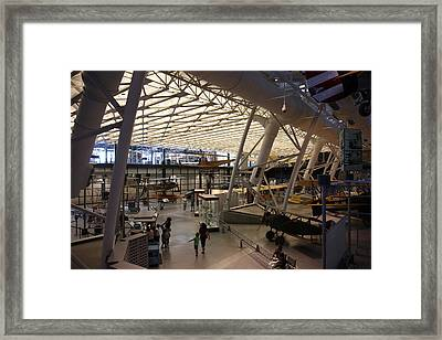 Udvar-hazy Center - Smithsonian National Air And Space Museum Annex - 121250 Framed Print by DC Photographer