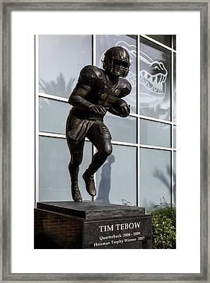 Uf Heisman Winner Tim Tebow  Framed Print by Lynn Palmer