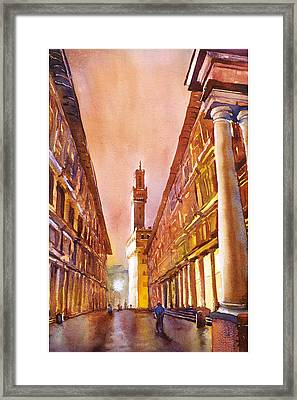 Uffizi- Florence Framed Print by Ryan Fox