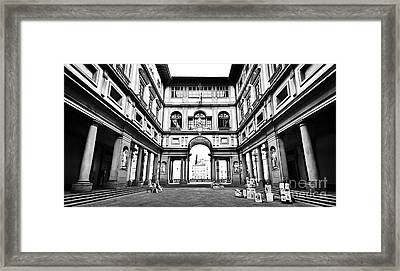 Uffizi Gallery In Florence Framed Print by JR Photography
