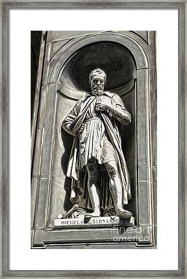 Uffizi Gallery - Michelangelo Buonarroti Framed Print by Gregory Dyer