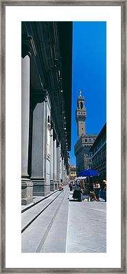 Uffizi Museum, Palazzo Vecchio Framed Print by Panoramic Images