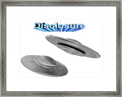 Ufo Disclosure Framed Print by Stephan Brown