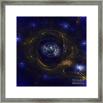 Ufo Observation Framed Print by Klara Acel