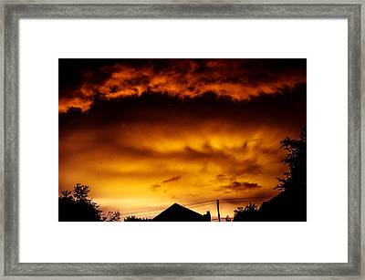 Ufo Tornado Framed Print