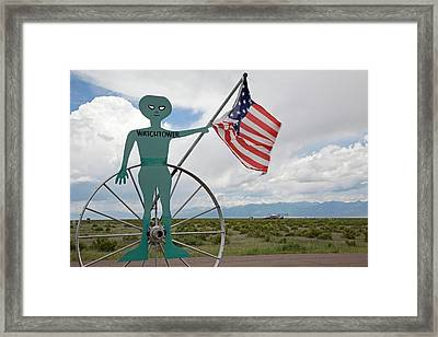 Ufo Watchtower Framed Print by Jim West