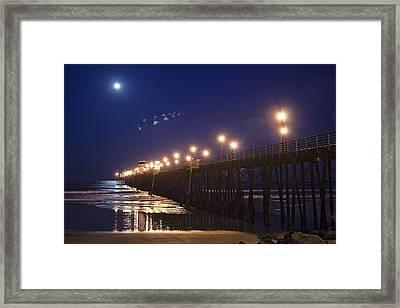 Ufo's Over Oceanside Pier Framed Print