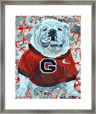 Uga Bulldog II Framed Print by Michael Lee