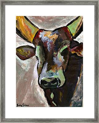 Ugandan Long Horn Cow Framed Print