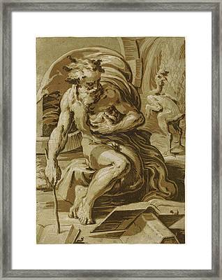 Ugo Da Carpi After Parmigianino Italian Framed Print