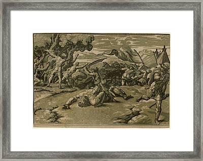 Ugo Da Carpi After Raphael Italian Framed Print by Quint Lox