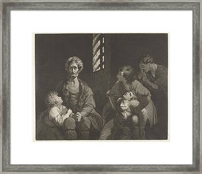 Ugolino Conte Della Gherardesca Dies With Three Of His Sons Framed Print by Artokoloro