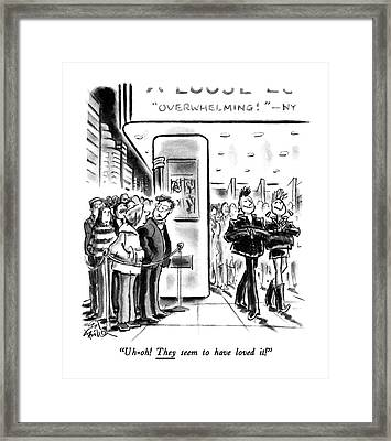 Uh-oh! They Seem To Have Loved It! Framed Print by Ed Fisher