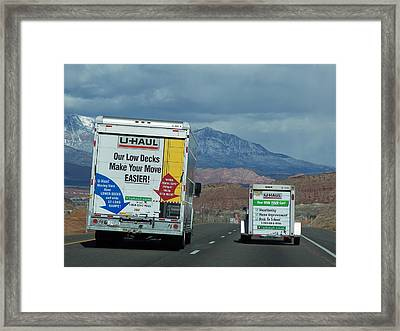 Uhaul On The Move Framed Print