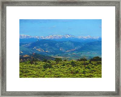 Uinta Mountains  Framed Print