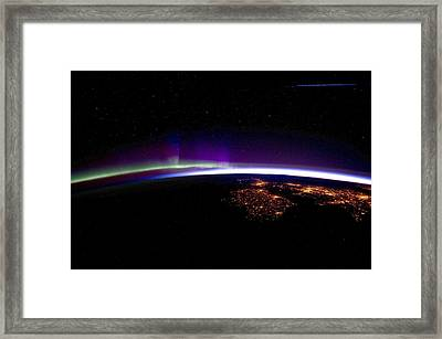 Uk And Ireland At Night, Iss Image Framed Print by Science Photo Library
