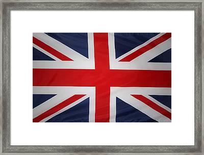 Uk Flag Framed Print by Les Cunliffe