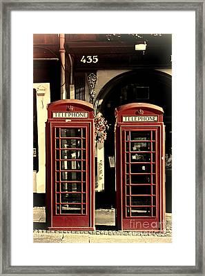 Uk Phone Box Framed Print