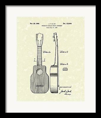 Ukelele Framed Prints