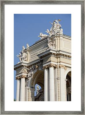 Ukraine, Odessa Historic Odessa Opera Framed Print by Cindy Miller Hopkins
