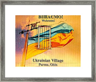Ukrainian Village Ohio Framed Print by Frozen in Time Fine Art Photography