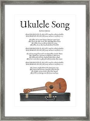 Ukulele Song Framed Print