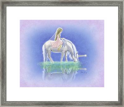 Ulani The Unicorn Elf Framed Print by Amanda Francey