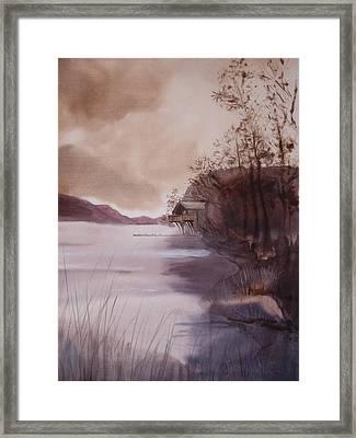 Ullswater Boathouse English Lake District  Framed Print