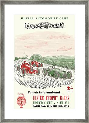 Ulster Northern Ireland Trophy Races Framed Print by Georgia Fowler