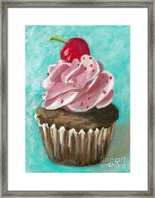 Ultimate Cupcake Framed Print by Jan Gibson