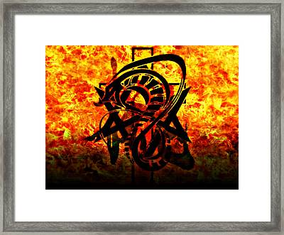 Framed Print featuring the digital art Ultimate Shield by Persephone Artworks