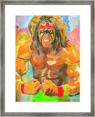 Ultimate Warrior Framed Print by John Morris