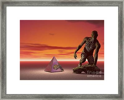 Ultimatum - Surrealism Framed Print by Sipo Liimatainen